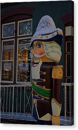 Nutcracker Statue In Downtown Grants Pass Canvas Print by Mick Anderson