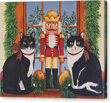 Nutcracker Sweeties Canvas Print by Beth Clark-McDonal