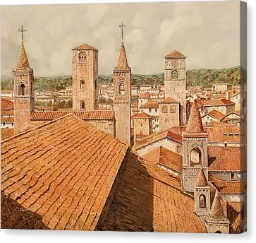 Alba Canvas Print by Guido Borelli