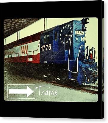 Transportation Canvas Print - Nw Locomotive #1776 #phonto #altphoto by Teresa Mucha
