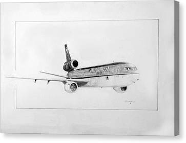 Nwa Dc-10-40 Canvas Print by J Griff Griffin