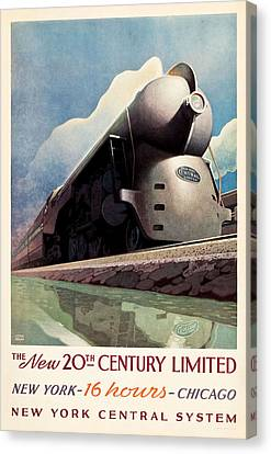 Ny Central System Canvas Print by Allen Beilschmidt