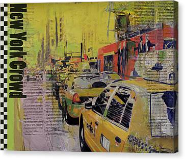 Ny City Collage Canvas Print by Corporate Art Task Force