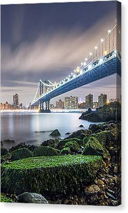 Canvas Print featuring the photograph Ny Ny by Anthony Fields