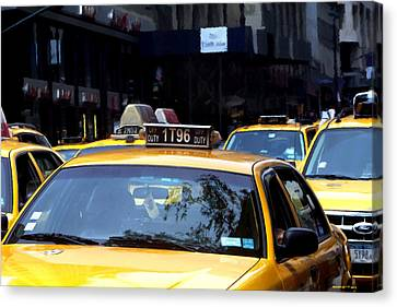 Ny Streets - Yellow Cabs 2 Canvas Print by Gabriel T Toro
