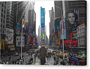 Ny Times Square Canvas Print by Galexa Ch