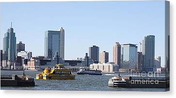 Canvas Print featuring the photograph Ny Waterways by John Telfer