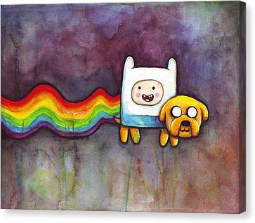 Nyan Time Canvas Print by Olga Shvartsur