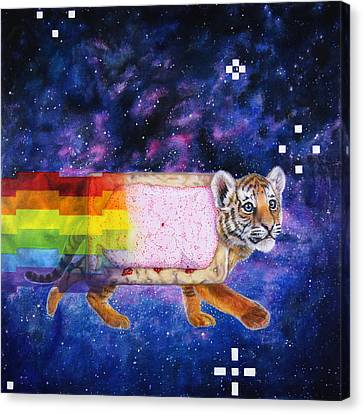 Nyantiger Nyancat Two Point Oh Canvas Print by David Starr