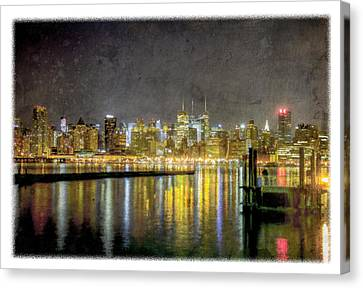 Nyc At Night Canvas Print