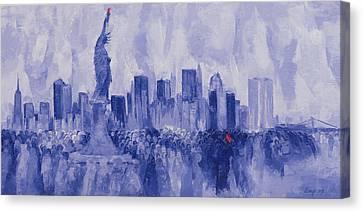 NYC Canvas Print by Bayo Iribhogbe