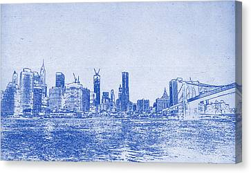 Lincoln Park Lagoon Canvas Print - Nyc Blueprint by Celestial Images