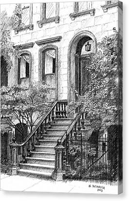 Nyc Brownstone Canvas Print