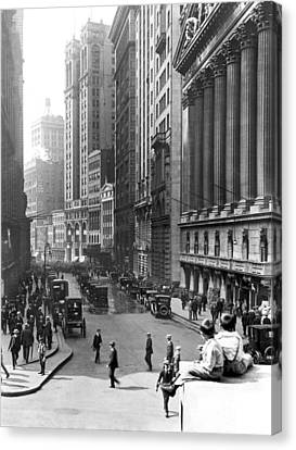 1924 Canvas Print - Nyc Financial District by Underwood Archives