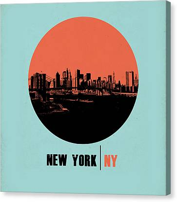 Nyc Gallery Cover Canvas Print by Naxart Studio
