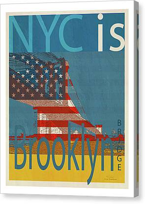 Nyc Is Brooklyn Bridge Canvas Print