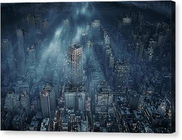 Nyc Canvas Print by Leif L?ndal