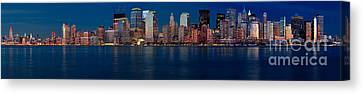 Canvas Print featuring the photograph Nyc Pano by Jerry Fornarotto