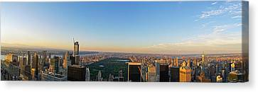 Nyc Panorama Canvas Print by Rima Biswas