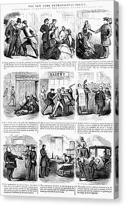 Nyc Police, 1859 Canvas Print by Granger