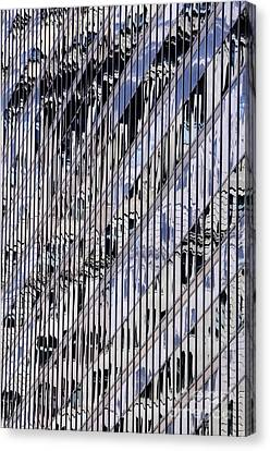 Nyc Reflection 2 Canvas Print by Bob Stone