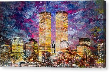 Times Square Canvas Print - Nyc Skyline by Louis Ferreira