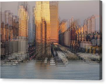 Nyc Skyline Shapes Canvas Print by Susan Candelario