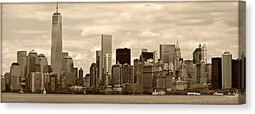 Nyc Skyline Canvas Print by Stephen Stookey