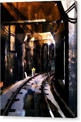 Nyc Subway Canvas Print by H James Hoff