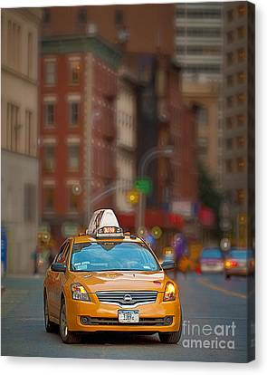 Canvas Print featuring the digital art Taxi by Jerry Fornarotto