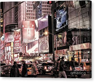 Nyc - Times Square Canvas Print by Jesse Forrister