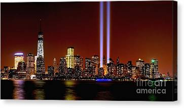 Nyc Tribute In Light 2013 Canvas Print by Nick Zelinsky