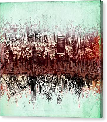 Nyc Tribute Skyline 3 Canvas Print