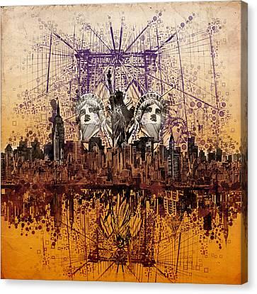 Nyc Tribute Skyline 6 Canvas Print