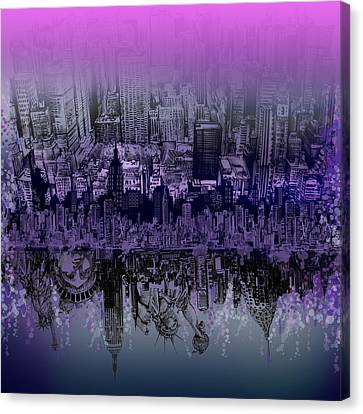 City Canvas Print - Nyc Tribute Skyline by Bekim Art