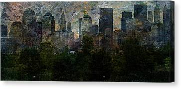 Nyc With Trees Canvas Print by Bruce Rolff