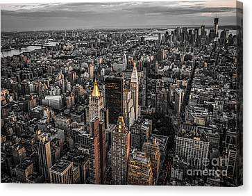 Nycs Golden Tops Canvas Print by Hannes Cmarits