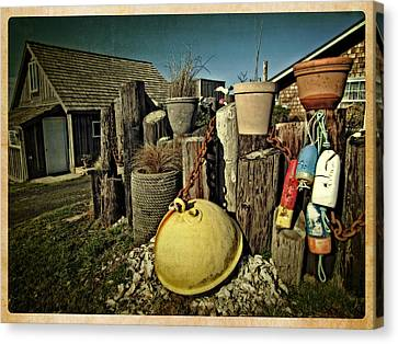 Canvas Print featuring the photograph Nye Beach Buoys by Thom Zehrfeld