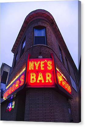 Nye's Bar By Day Canvas Print by Heidi Hermes