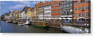Nyhavn Copenhagen Denmark Canvas Print by Panoramic Images