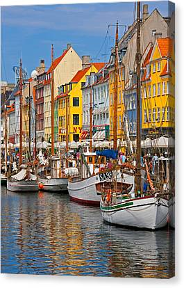 Nyhavn Sailboats Canvas Print