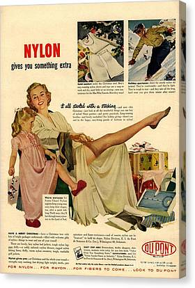 Nylon By Dupont 1940s Usa Nylons Canvas Print by The Advertising Archives