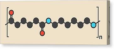 Nylon Plastic Polymer Molecule Canvas Print by Molekuul