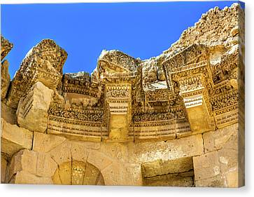 Jordan Canvas Print - Nymphaeum Public Fountain, Ancient by William Perry