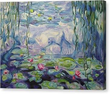 Nympheas Apres Monet Canvas Print