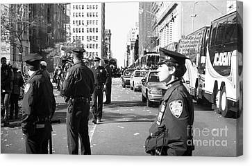 Nypd 1990s Canvas Print by John Rizzuto