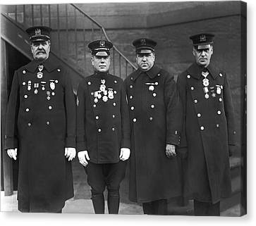 Nypd Honor Legion Members Canvas Print by Underwood Archives