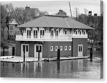 Nyrp Peter Jay Sharp Boathouse At Swindler Cove Park On The Harlem River New York City Canvas Print by Joe Fox