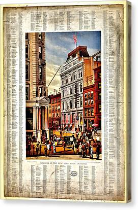 Nyse 1882 Canvas Print by Benjamin Yeager