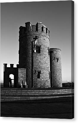 Briens Tower At The Cliffs Of Moher Canvas Print by Aidan Moran